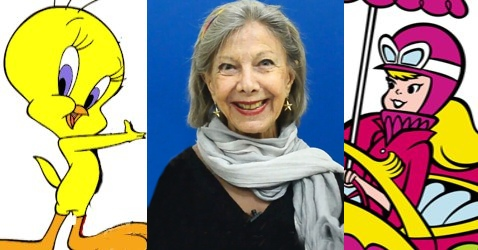 Miriam Thereza e alguns dos personagens que já dublou