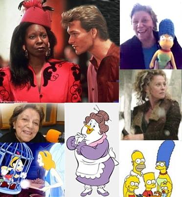 Selma Lopes e alguns dos atores e personagens que j� dublou